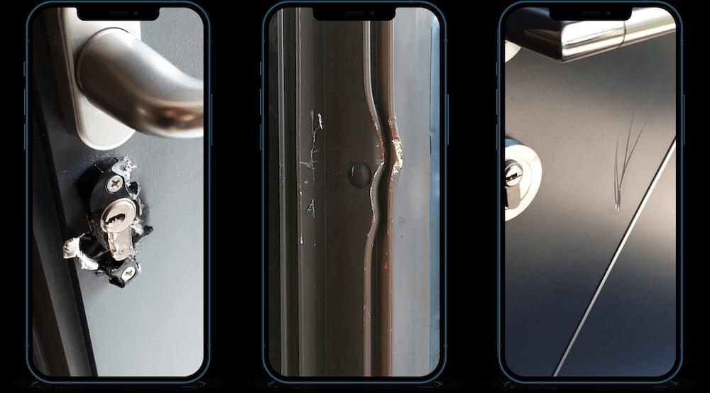 Réparation porte d'entrée après effraction