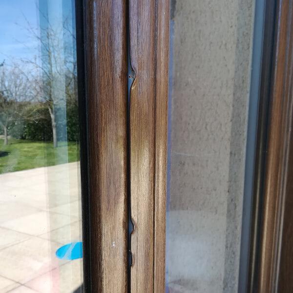 Réparation baie vitrée plaxée